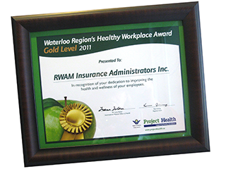 Healthy Workplace Award Certificate